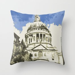 Saint Paul's Cathedral London Throw Pillow