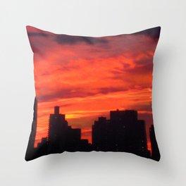 City Sunset Throw Pillow