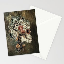 Skull on old grunge Stationery Cards