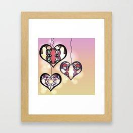 Ornament hearts Framed Art Print