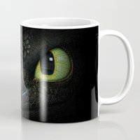 targaryen Mugs featuring Toothless  by aleha