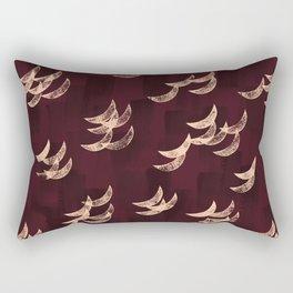 Solar eclipse shadows // burgundy Rectangular Pillow