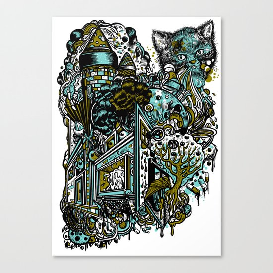 The Castle Of Doom and Sugar Canvas Print