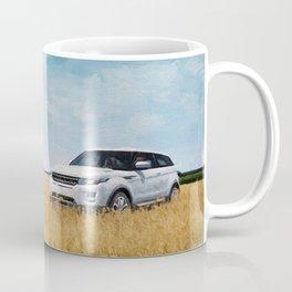 Abandoned Car Art Evoque in field Coffee Mug