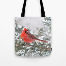 Winter's Beauty Cardinal Tote Bag