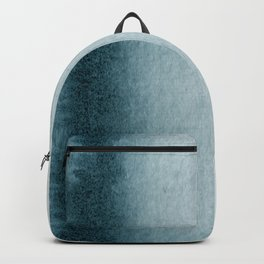 Teal Vertical Blur Abstract Art Backpack