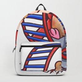 Hamster wheel metaphor routine animal gift Backpack