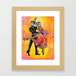 skeleton ballet Framed Art Print