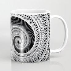 Black And White Skeletal Shell  Mug