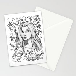 Flourishing Nightingale Stationery Cards
