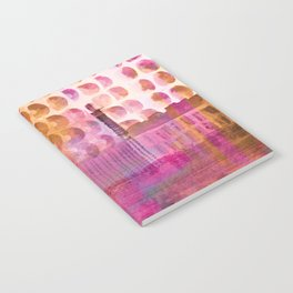 Plum Hued Abstract Notebook
