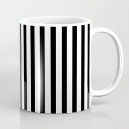 Black & White Small Vertical Stripes - Mix & Match with Simplicity of Life Coffee Mug