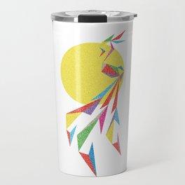 Abstract Moon Bird Travel Mug
