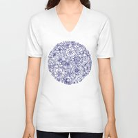 circle V-neck T-shirts featuring Circle of Friends by micklyn