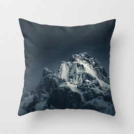 Darkness and mountain Throw Pillow