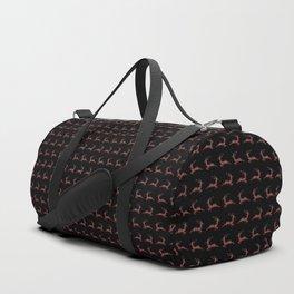 Holiday Reindeer In Plaid Duffle Bag