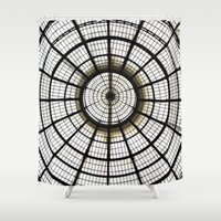 milan Shower Curtains featuring Milan by Alev Takil