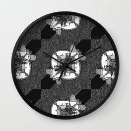 Denim Doodles & Bits Wall Clock