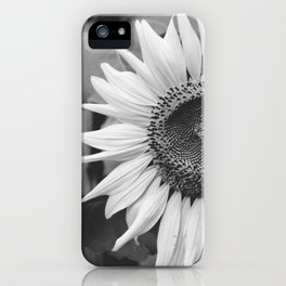 Sunflower Black And White 2 iPhone Case