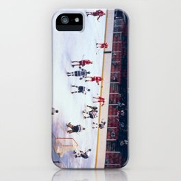 Vintage Ice Hockey Match iPhone Case