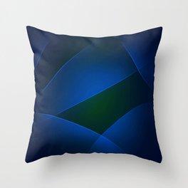 Regal Blue, Burnnham, Stratos, Midnight, Congress Blue & Smalt Colors Throw Pillow