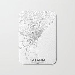 Minimal City Maps - Map Of Catania, Italy. Bath Mat