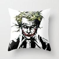 joker Throw Pillows featuring Joker. by CJ Draden