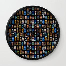 Multicolored artwork Wall Clock
