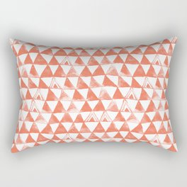 Coral Tribal Triangles Rectangular Pillow