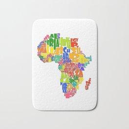 African Continent Cloud Map Bath Mat