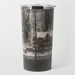 House On Lake Bled Travel Mug