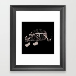 brain smoking Framed Art Print
