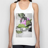 lotus flower Tank Tops featuring Lotus by SEVENTRAPS