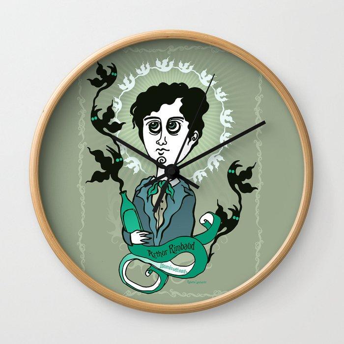 Rimbaud Holy Writer Wall Clock