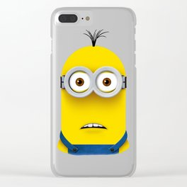Minion KEVIN (Surprised) Clear iPhone Case