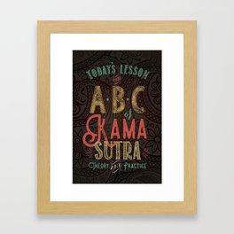 Kama Sutra Lessons Framed Art Print
