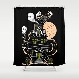 Haunted Tea House Shower Curtain