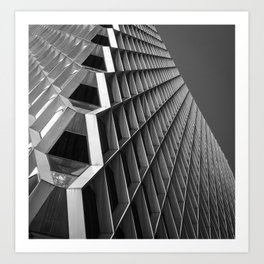 Abstract City Architecture Pittsburgh Black White Art Print