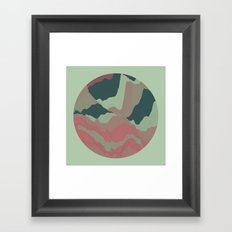 TOPOGRAPHY 008 Framed Art Print