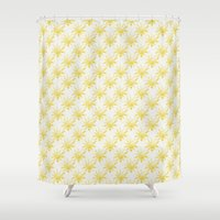 sunshine Shower Curtains featuring Sunshine by Leah Flores