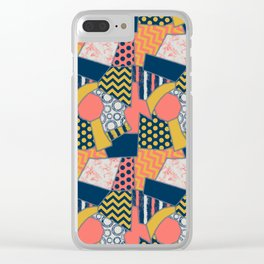 crazy quilt limited palette (all items) Clear iPhone Case