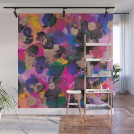 Multi-Coloured Abstract Alcohol Ink Painting - LaurensColour Wall Mural