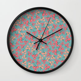flowers 5 Wall Clock