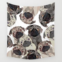 Pug Nation Wall Tapestry