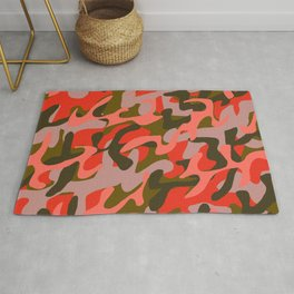 Coral Camouflage 2 Rug