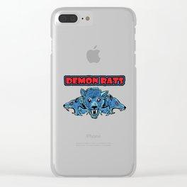 Demon Rats Clear iPhone Case