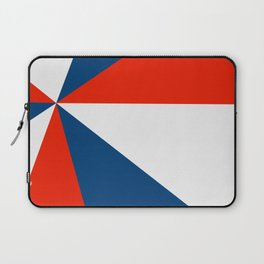 Retro Beams Pop Art - Red White Blue Laptop Sleeve