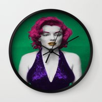 monroe Wall Clocks featuring Monroe by POP Prints by FMcLaws