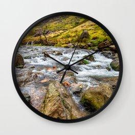 Llanberis Pass Snowdonia Wall Clock