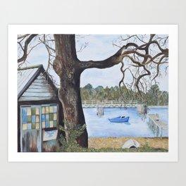 Newtown Creek Boat Hut Art Print